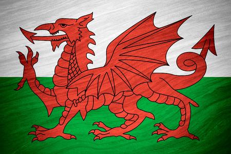 bandiera del Galles o gallese banner su sfondo astratto