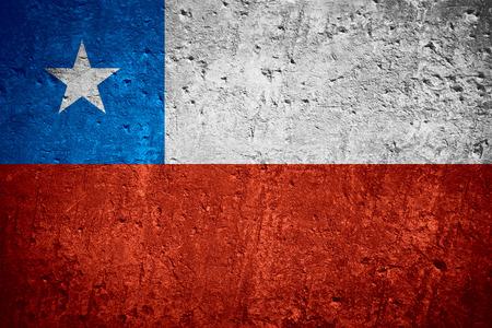 vlag van Chili of Chileense vlag op gekraste ruwe textuur