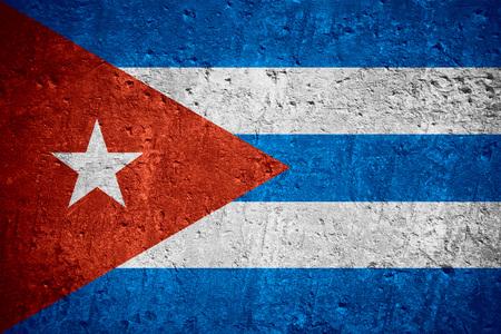 flag of Cuba or Cuban flag on scratched rough texture Banco de Imagens - 85334359
