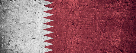 flag of Qatar or Qatari flag on scratched rough texture Stock Photo - 85947393