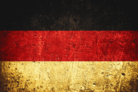 flag of Germany or German banner on scratched rough texture Stock Photo