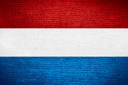 dutch flag or flag of holland on row pattern texture netherlands