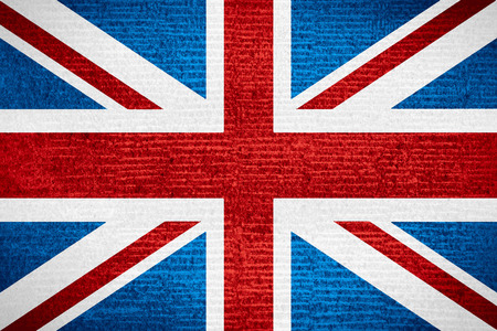 flag of United Kingdom or British on row pattern texture, Great Britain