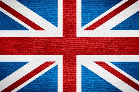 vlag van het Verenigd Koninkrijk of de Britse op rij patroon textuur, Groot-Brittannië