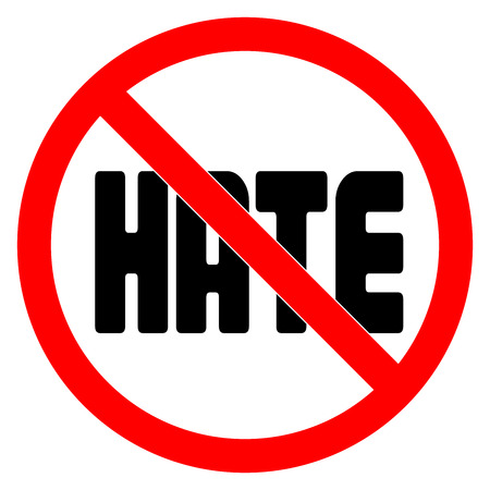 No HATE sign vector illustration