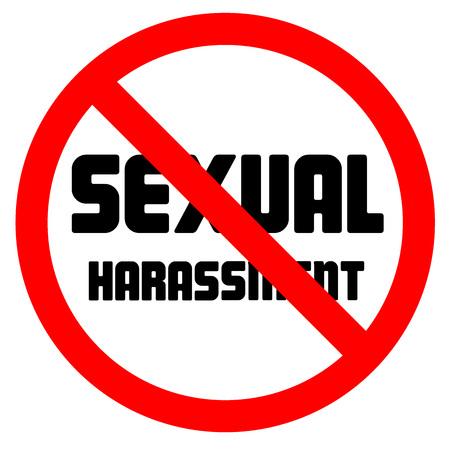arrêtez le lettrage de l & # 39 ; sexuelle sexuelle et signe interdit Vecteurs