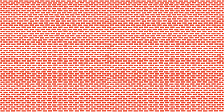 Seamless red brick wall pattern for background. Interior red grunge brick wall background. Grunge orange brick wall vector illustration.