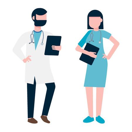 Doctor and nurse medical hospital.