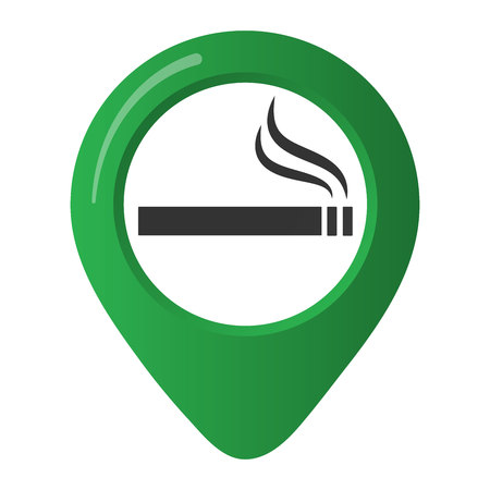 Smoking area marker map of the green circle. Isolated on white background  イラスト・ベクター素材