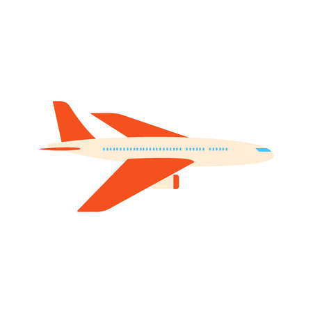 Airplane flat style design vector illustration isolated on white background icon sign.