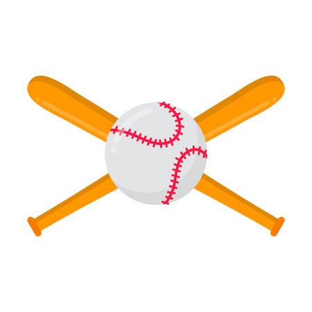 Baseball bats and ball Symbols or emblem of sport game baseball.