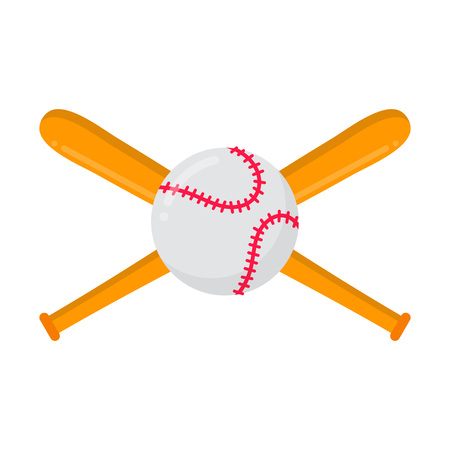 Baseball bats and ball Symbols or emblem of sport game baseball.