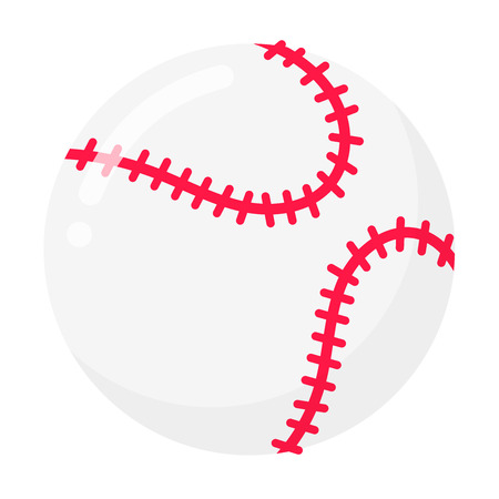 Baseball ball flat style design Symbols of sport game baseball.