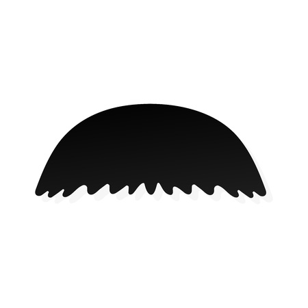 Strong man mustache flat style icon sign vector illustration isolated on white background. Symbol of the vintage dad or father web flat icon.