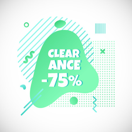 Clearance line   design vector text Stock Illustratie