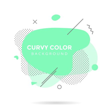 Modern liquid abstract element shape shape memphis style design fluid vector colorful illustration banner simple shape template for presentation, flyer, brochure isolated on white background.