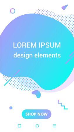 Liquid color stripes design style vector design fluid for flow, banner, brochure, isolated on white background. Stock fotó - 129495074