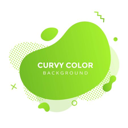 Modern liquid abstract element graphic gradient flat style design fluid vector colorful illustration banner simple shape template for logo, presentation, flyer, isolated on white background. 일러스트