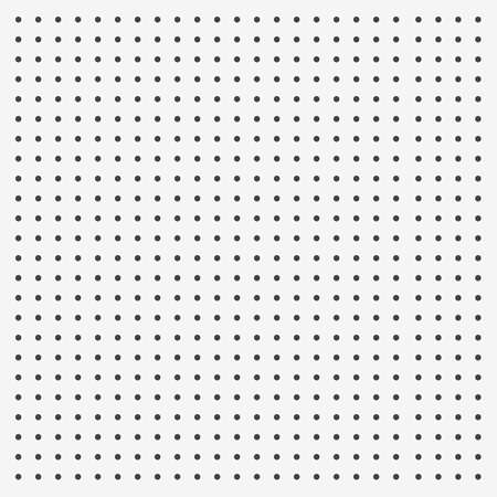 Peg board perforated texture background material with round holes pattern board vector illustration. Wall structure for working tools. 矢量图像