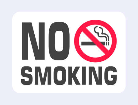 No smoking sign. Forbidden sign icon isolated on black background vector illustration. White cigarette, smoke and prohibition circle.