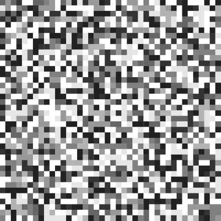 TV screen noise pixel glitch seamless pattern texture background vector illustration. Analog TV static video noise. No video signal concept.