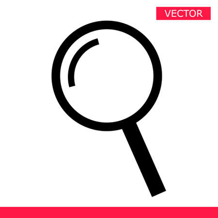 Magnifier icon sign cursor vector illustration flat style design isolated on gray background. Searching or zooming tool symbol magnifying glass icon.