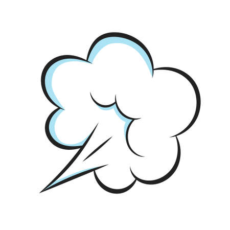 Smelling pop art comic book cartoon fart cloud flat style design vector illustration. Bad stink or toxic aroma cartoon smoke cloud isolated on white background. Vektorové ilustrace