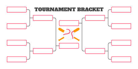 8 team tournament bracket championship template flat style design vector illustration isolated on white background. Championship bracket schedule for baseball game.