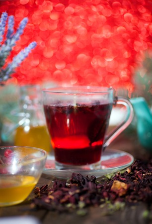 Hibiscus tea from rose carcade herbal herbal tea with rose hips and kalina diuretic and cleansing stomach rejuvenating organism