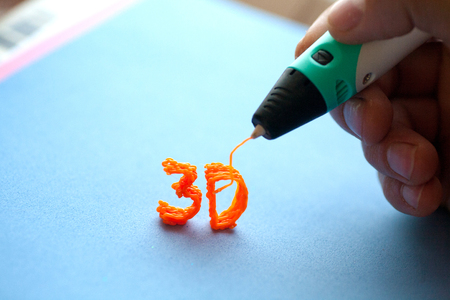 3d handle modern toy of the new generation of three-dimensional plastic figures from ABS plastic Stock Photo