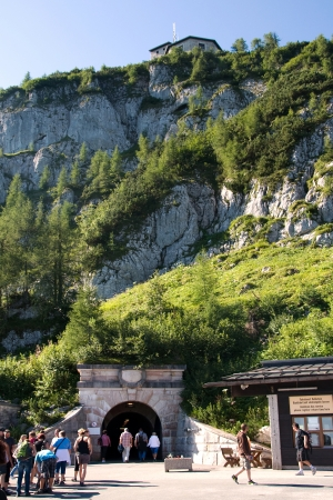 berchtesgaden: Entrance tunnel to the elevator to Hitler s Eagle s Nest near Berchtesgaden, Germany