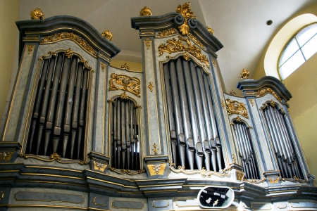The organ in the church of Saint Mark in Litovel, Czech Republic