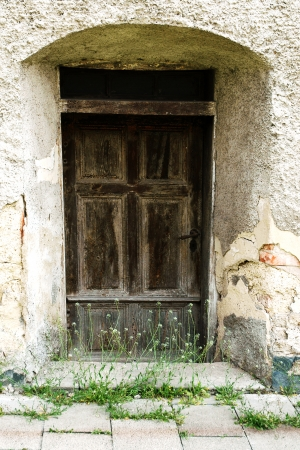 door casing: The old entrance to the house, unused for many years