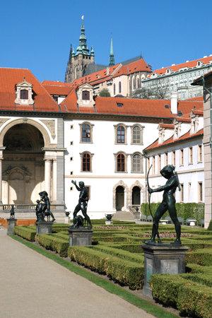 Wallenstein Palace Gardens below the Prague Castle, Czech republic  Редакционное