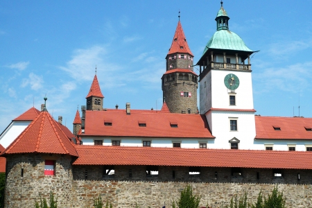 Fairytale Castle Bouzov is often used by filmmakers to the record fairy tales