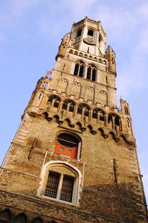 belfort: The Belfort Tower in the central square of Bruges, Belgium