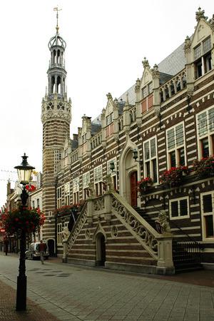 administrative buildings: Alkmaar, The Netherlands, one of the administrative buildings Stock Photo