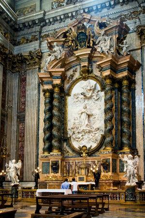 jesuit: Side altar in the Jesuit church in Rome Editorial