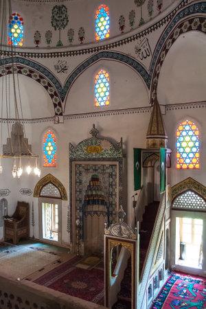mehmed: MOSTAR, BOSNIA AND HERZEGOVINA, MAY 12, 2010 - Inside the Koski Mehmed pasha Mosque Editorial