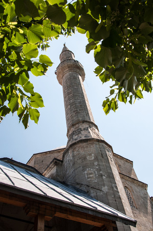 mehmed: Tower minaret of Koski Mehmed Pasha Mosque in Mostar, Bosnia and Herzegovina