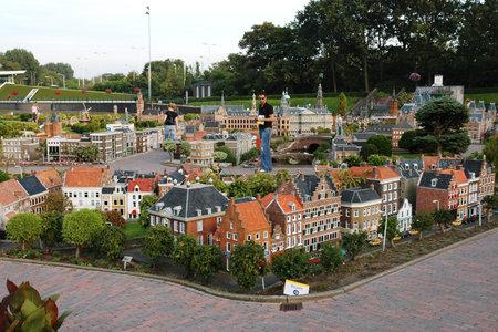 THE HAGUE, HOLLAND, SEPTEMBER 02, 2005 - Netherlands in miniature in the Madurodam open air museum