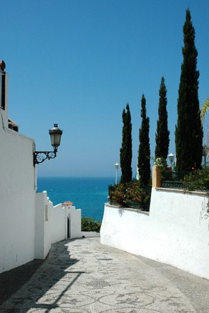 The lane to the sea in Spanish Andalusia