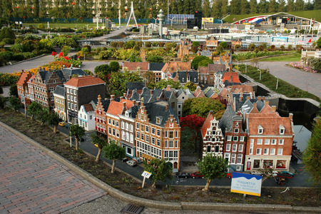 THE HAGUE, HOLLAND, SEPTEMBER 02, 2005 - Netherlands in miniature in the Madurodam open air museum