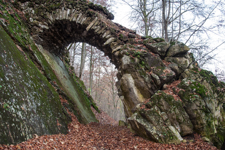Stone structure in the landscape called \\\Devil\\ photo