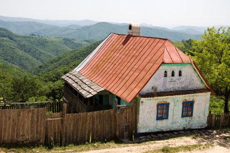 unoccupied: VILLAGE ROVENSKO, ROMANIAN BANAT, MAY 27, 2009 - Unoccupied abandoned house in the village Rovensko