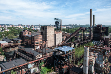 steel plant: OSTRAVA VITKOVICE, CZECH REPUBLIC- Old, abandoned and nonfunctional steel plant