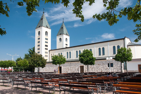 sacraments: Saint James church of Medjugorje in Herzegovina Where Blessed Virgin Mary appeared to six children in June 1981