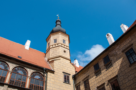 enduring: Castle tower Enduring Freedom, Czech Republic, When Viewed from the courtyard Editorial