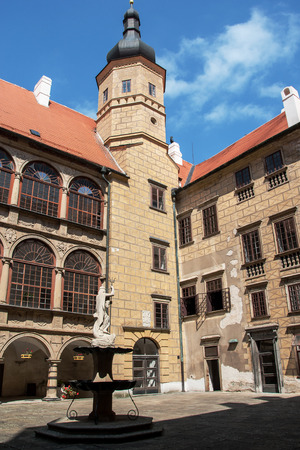 enduring: Inner castle courtyard Enduring Freedom, Czech Republic Editorial