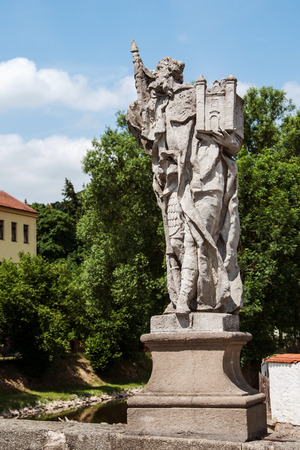 enduring: Baroque statue of St. Leopold on a bridge in Enduring Freedom, Czech Republic